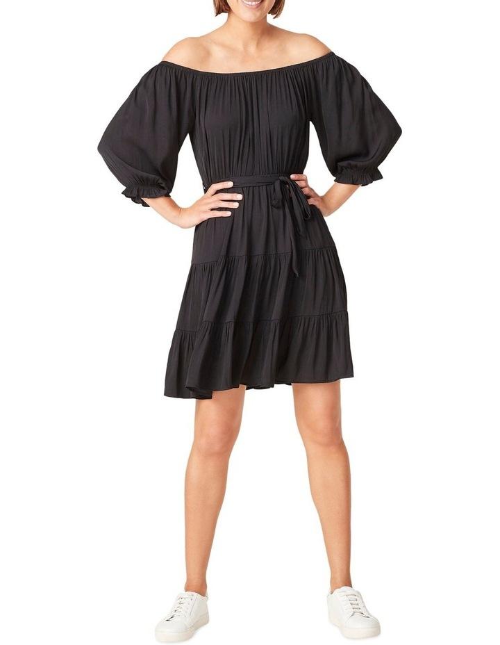 Off Shoulder Belted Dress image 1