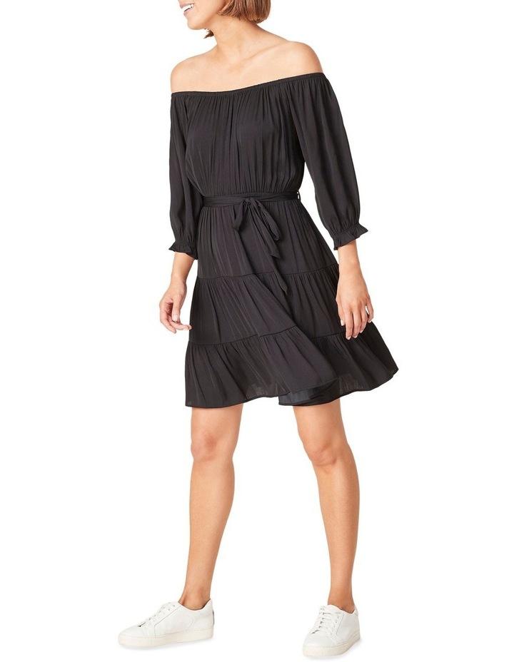 Off Shoulder Belted Dress image 2