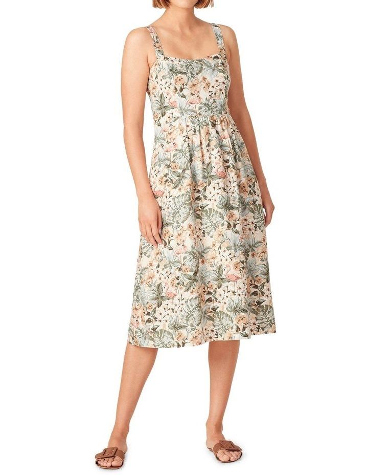 Vintage Tropical Linen Dress image 1