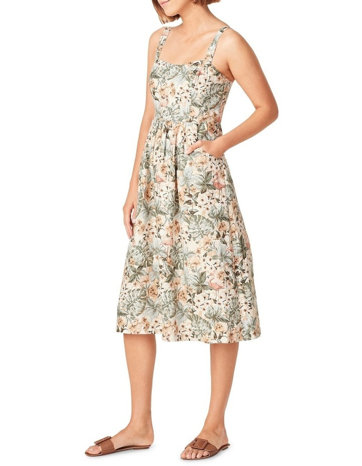Vintage Tropical Linen Dress image 2