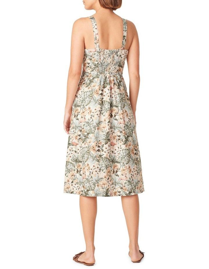 Vintage Tropical Linen Dress image 3