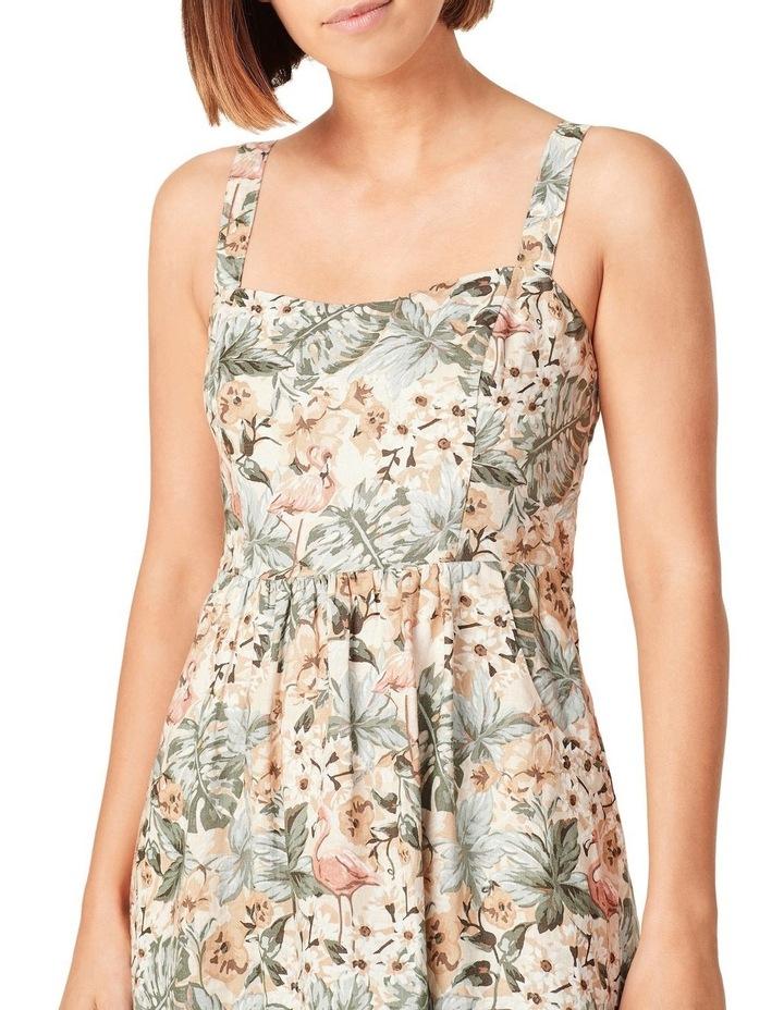 Vintage Tropical Linen Dress image 4