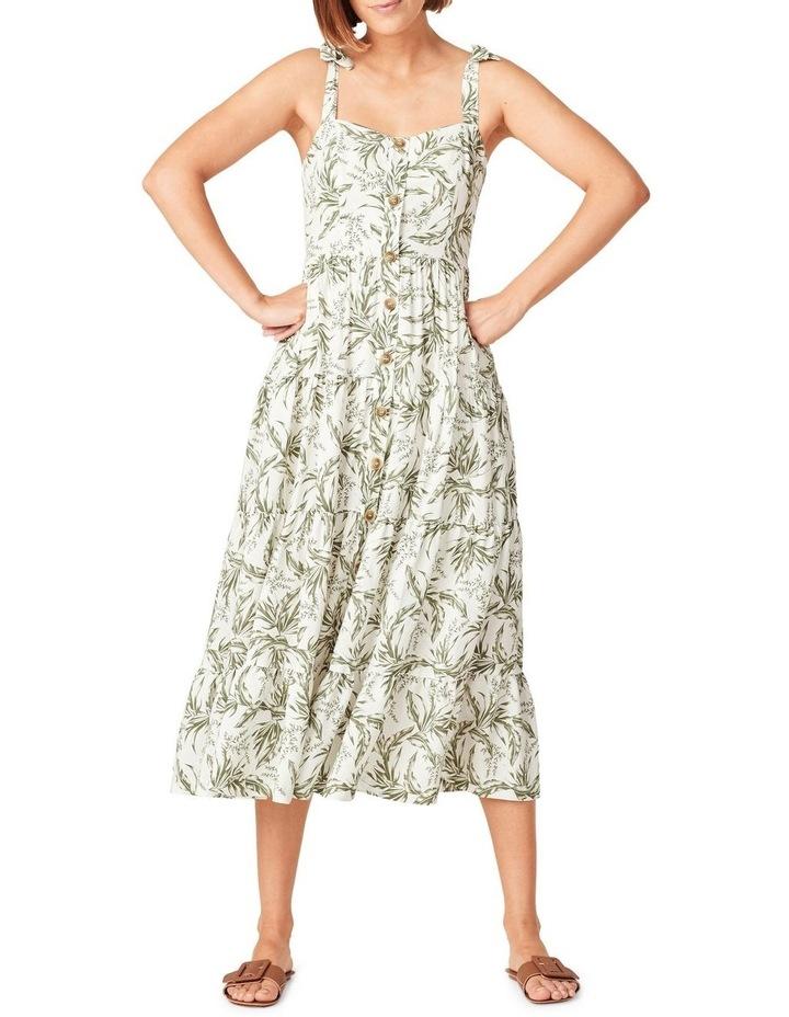 Tonal Tropical Tiered Dress image 1