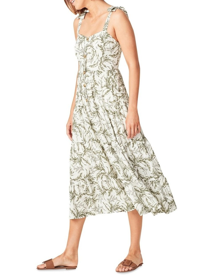 Tonal Tropical Tiered Dress image 2