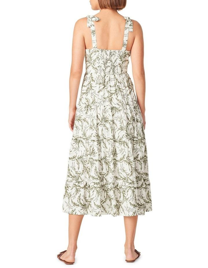 Tonal Tropical Tiered Dress image 3