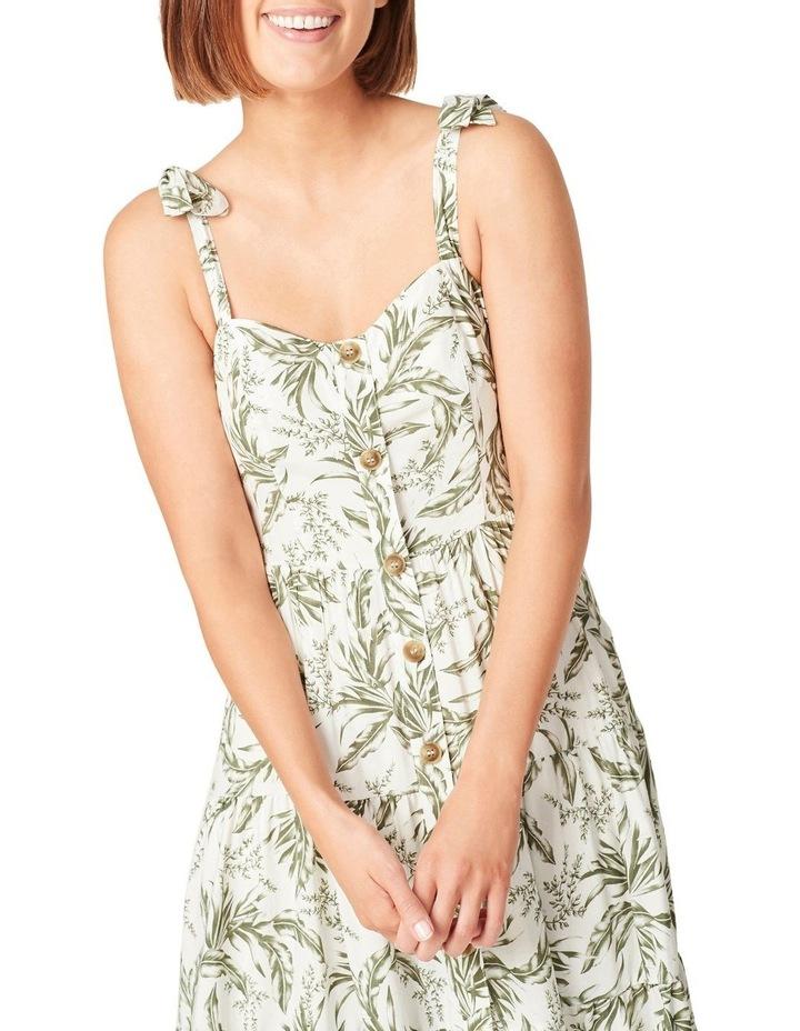 Tonal Tropical Tiered Dress image 4