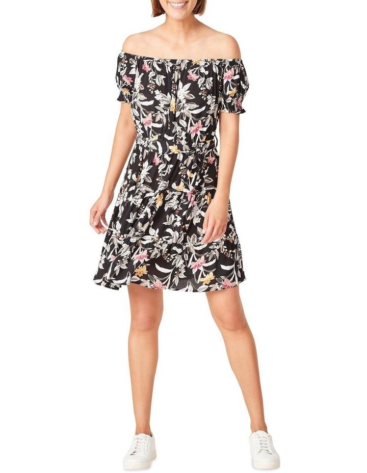 Off Shoulder Botanical Dress image 1