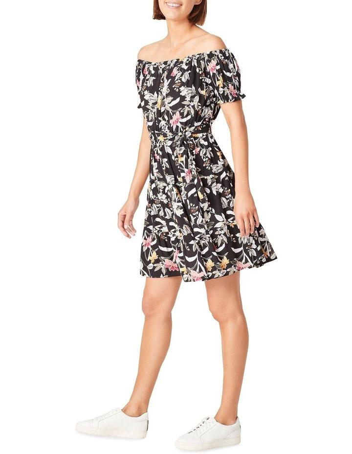 Off Shoulder Botanical Dress image 2