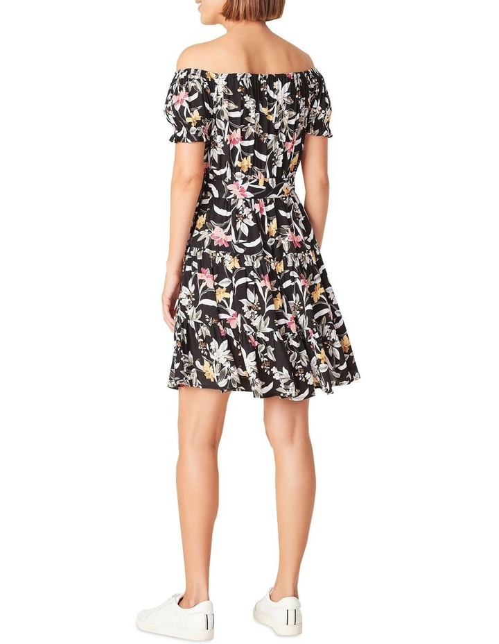 Off Shoulder Botanical Dress image 3