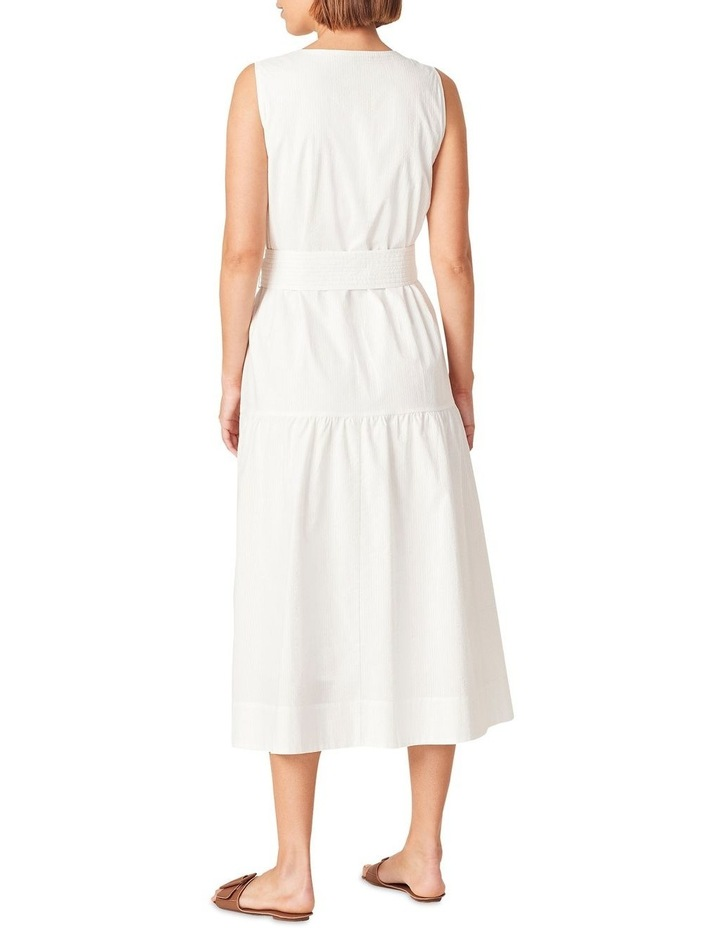 Textured Cotton Tiered Dress image 3