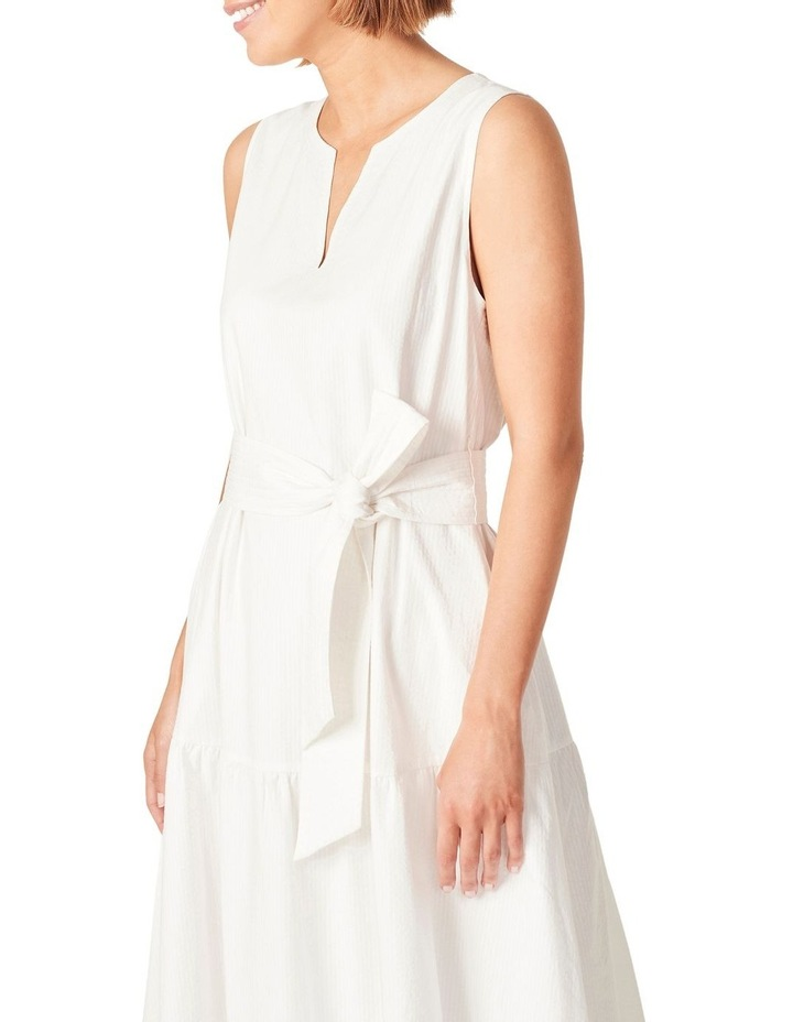 Textured Cotton Tiered Dress image 4