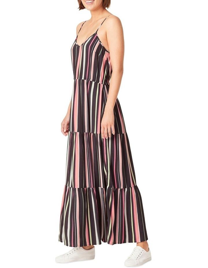 Rainbow Stripe Tiered Dress image 2