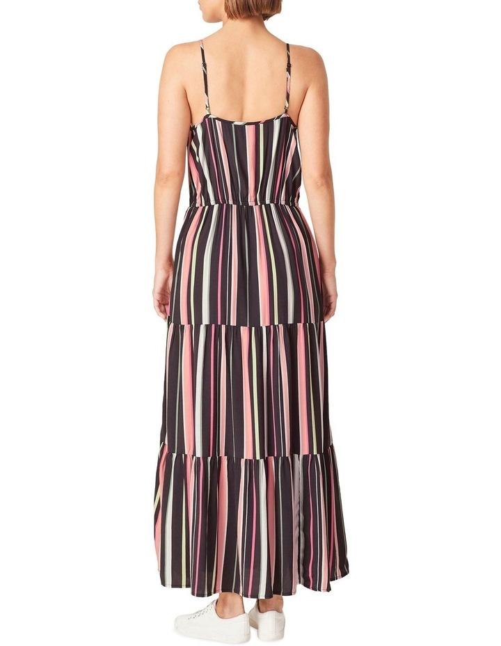 Rainbow Stripe Tiered Dress image 3