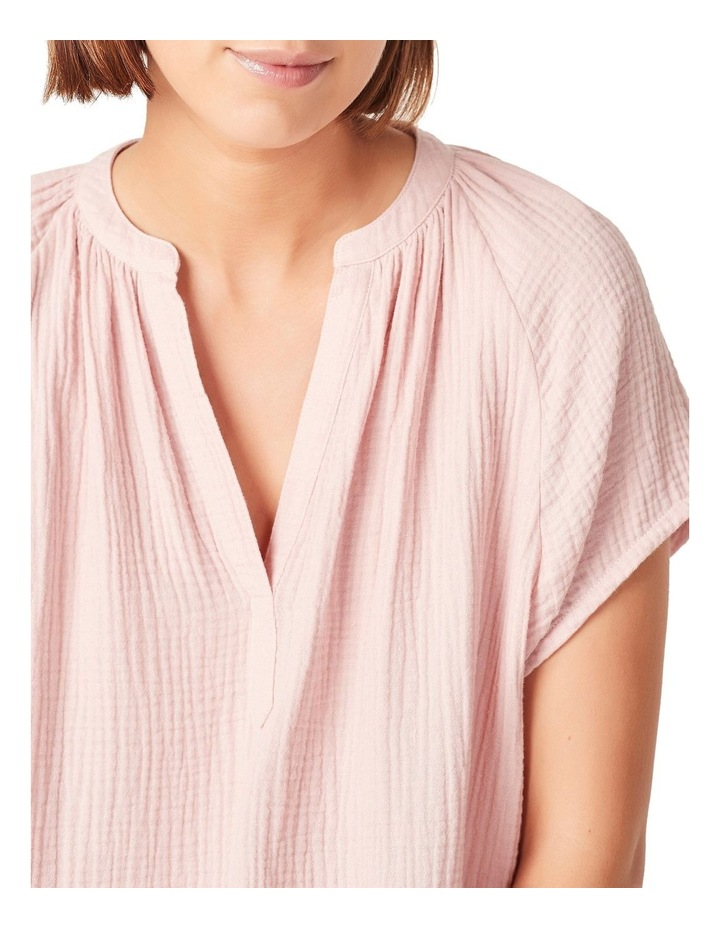 Cotton Crinkle Popover Top image 4