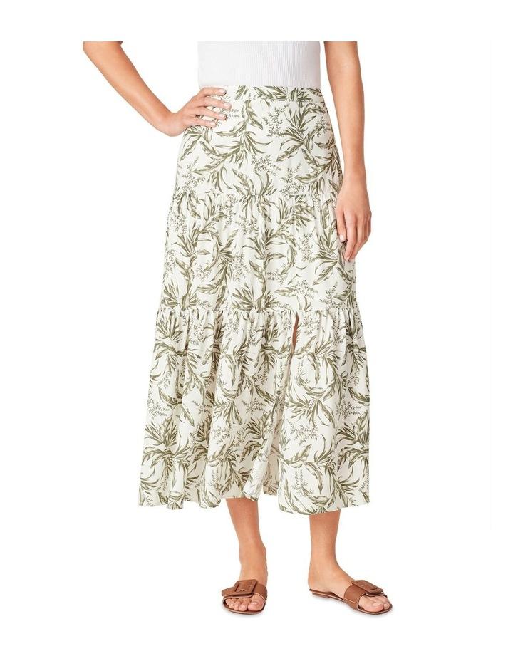 Tonal Tropical Tiered Skirt image 1