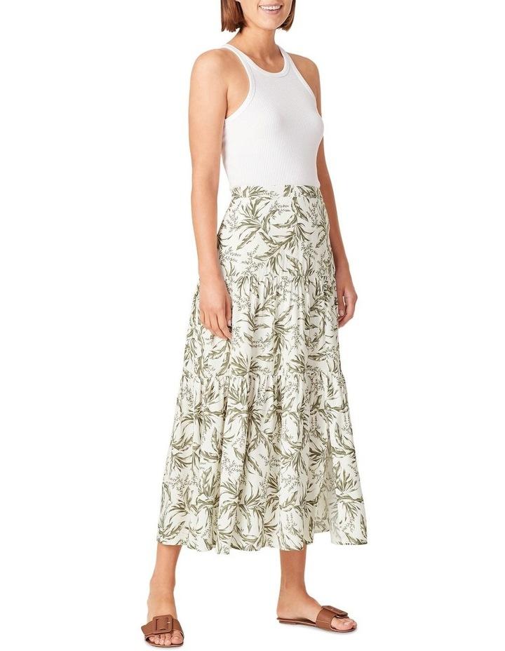 Tonal Tropical Tiered Skirt image 2