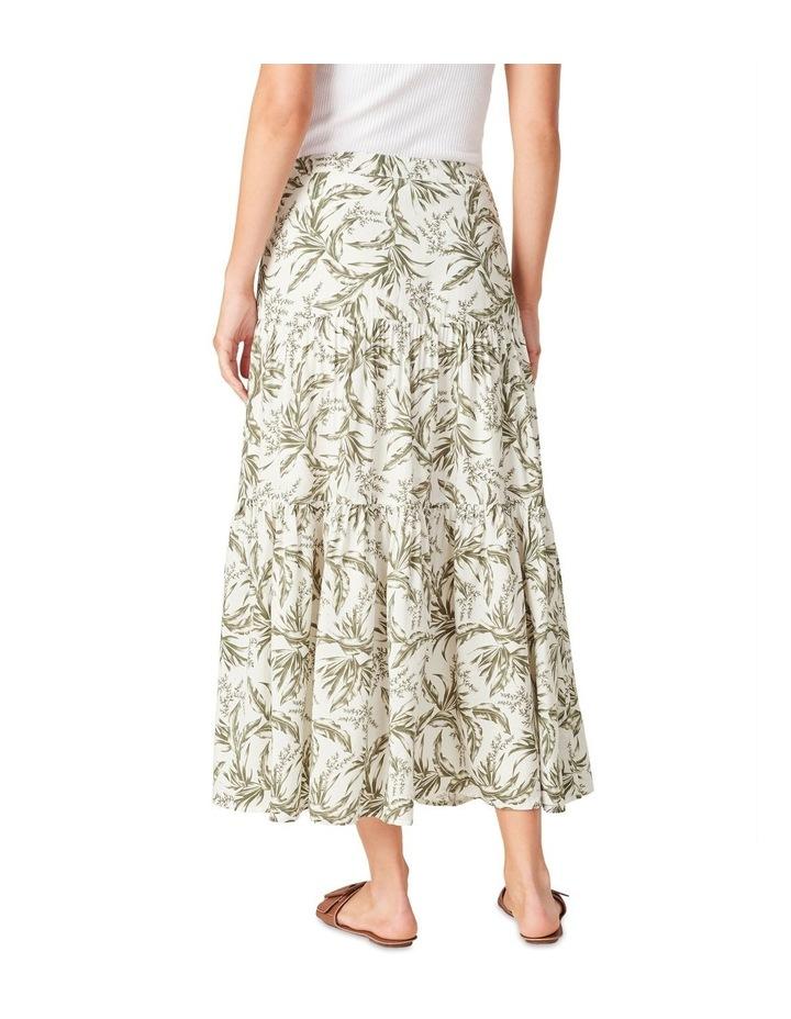 Tonal Tropical Tiered Skirt image 3