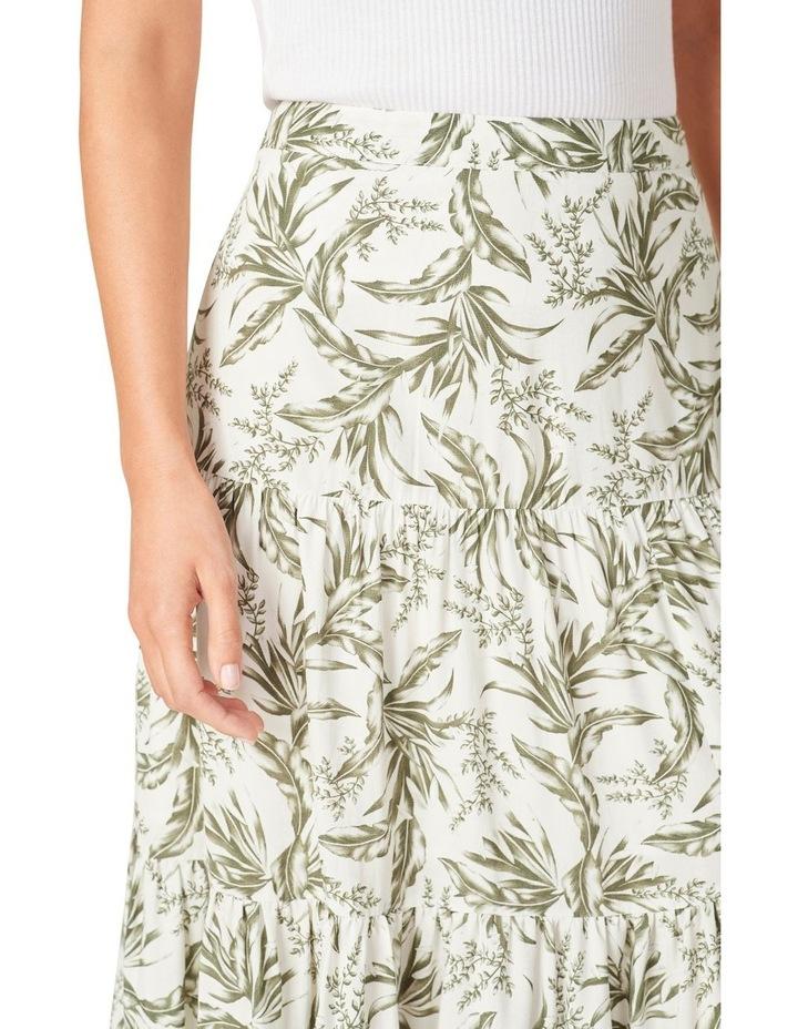 Tonal Tropical Tiered Skirt image 4