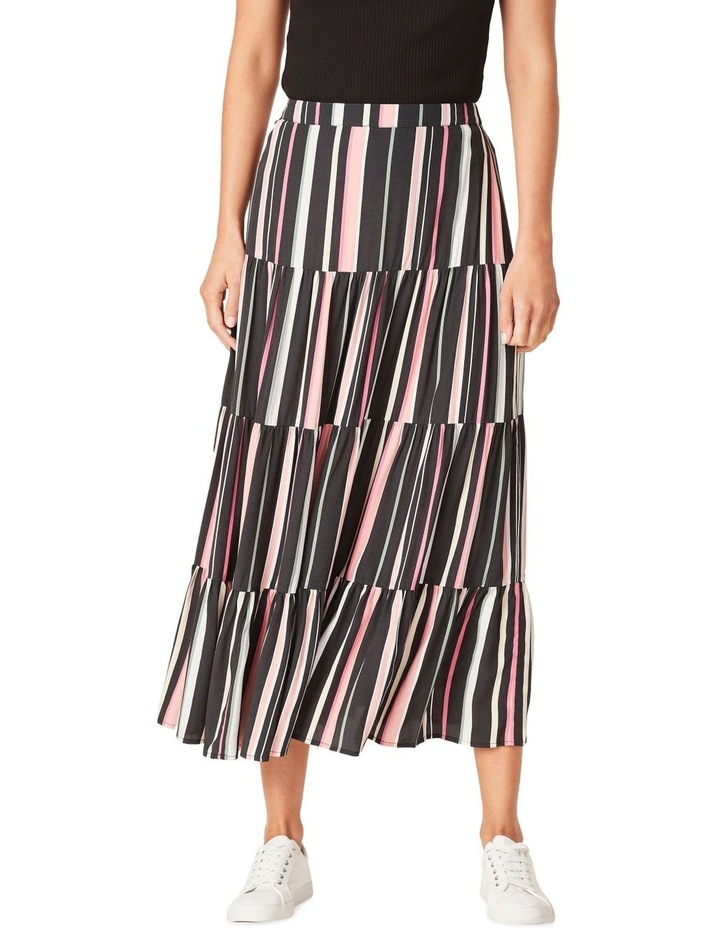 Rainbow Stripe Tiered Skirt image 1