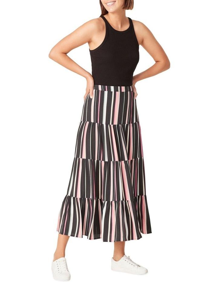 Rainbow Stripe Tiered Skirt image 2