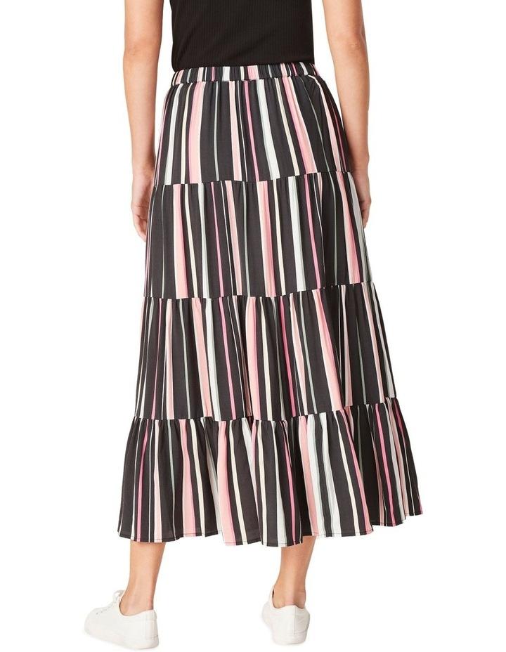 Rainbow Stripe Tiered Skirt image 3