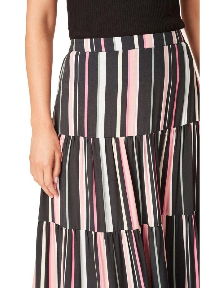 Rainbow Stripe Tiered Skirt image 4