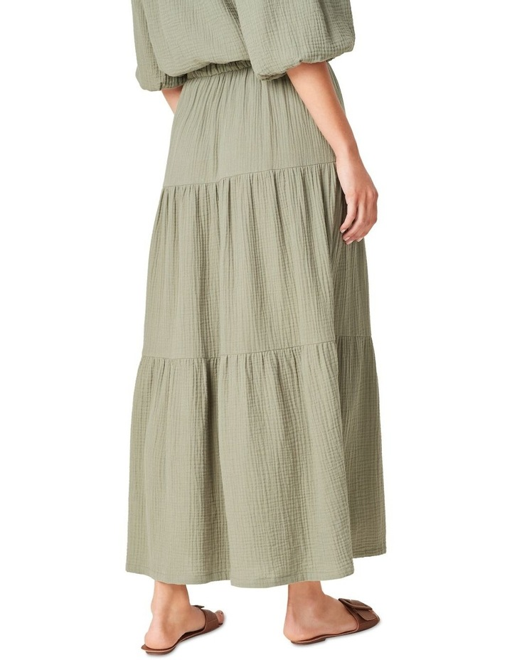 Cotton Crinkle Tiered Skirt image 3