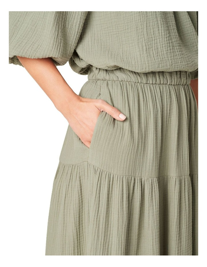 Cotton Crinkle Tiered Skirt image 4