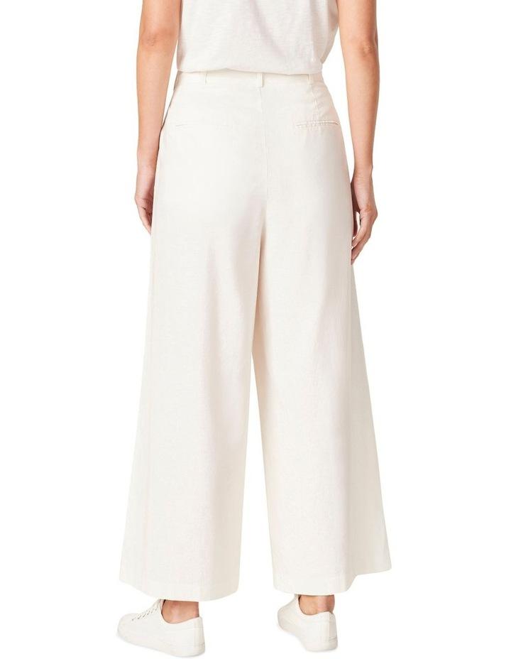 Linen Wide Leg Pant image 3