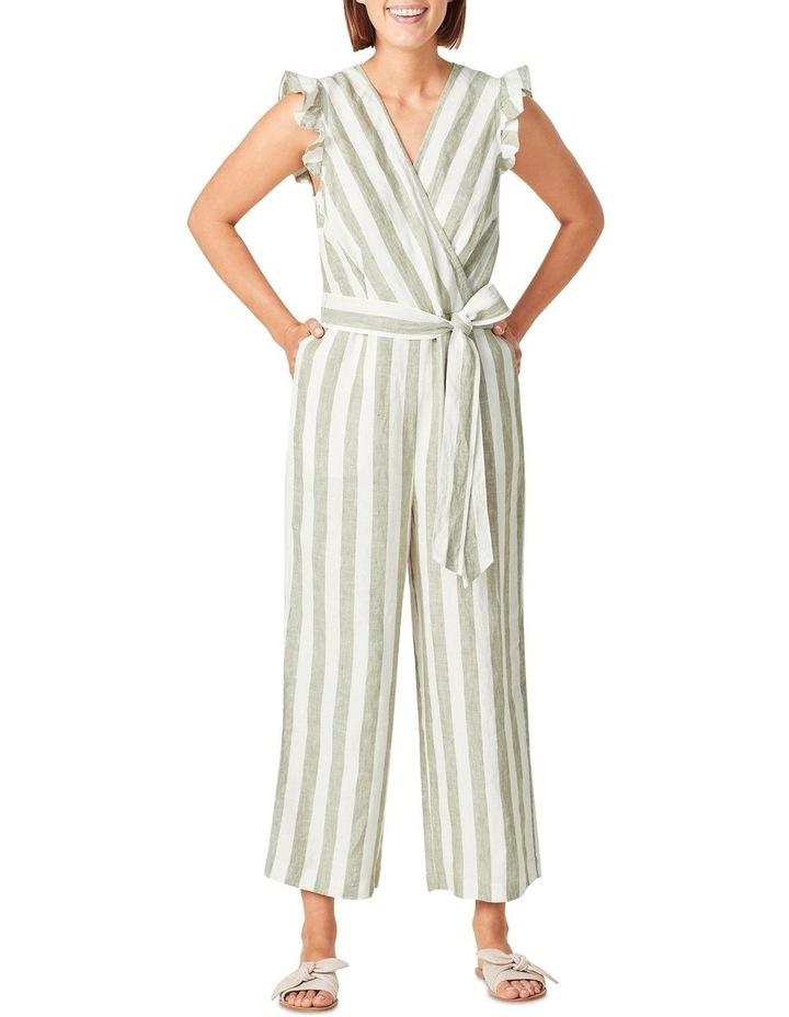 Linen Stripe Jumpsuit image 1