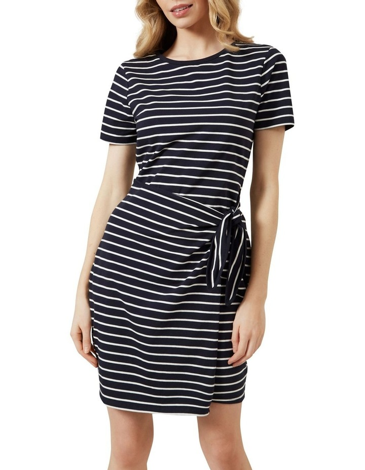 Stripe Wrap Dress image 1