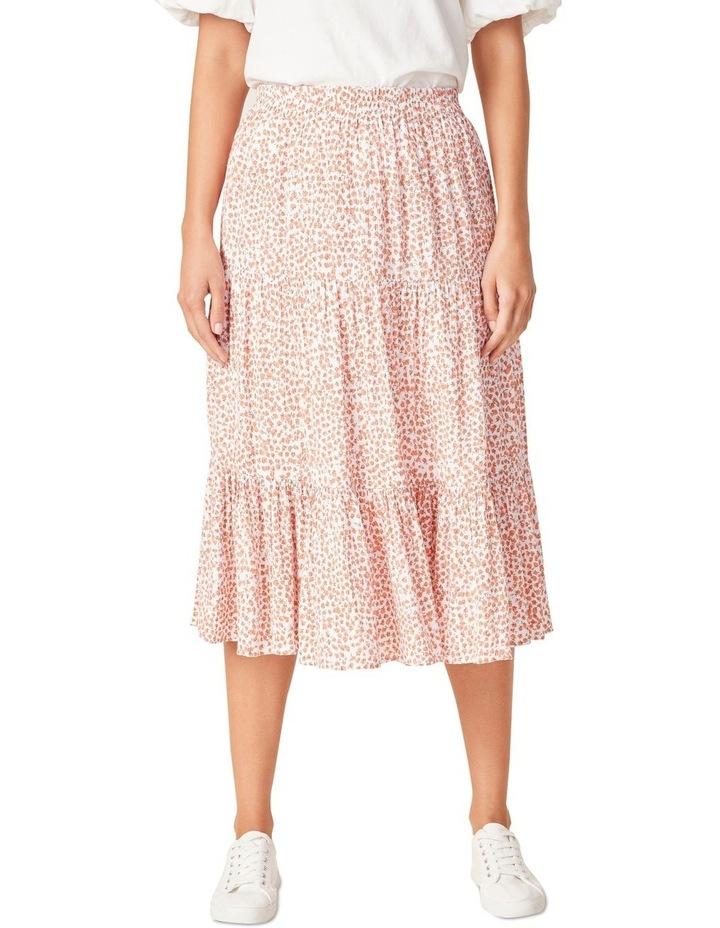 Crinkle Ditsy Midi Skirt image 1