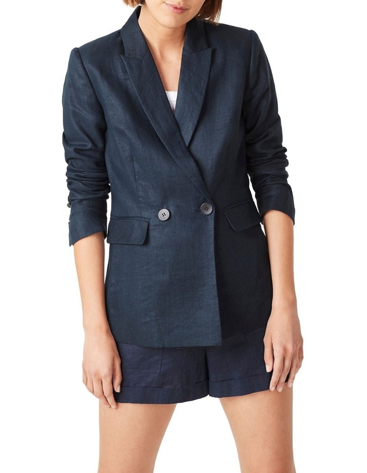 Linen Relaxed Blazer image 1