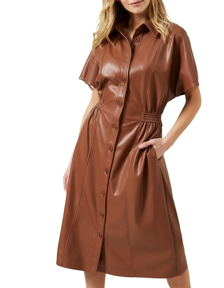 Faux Leather Midi Dress image 1