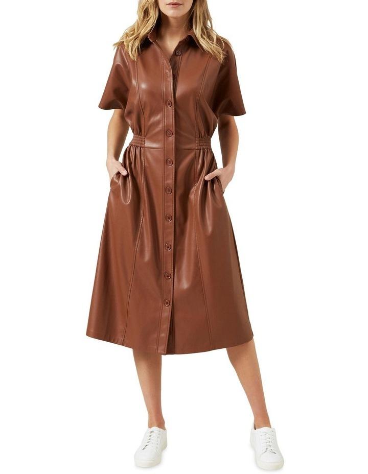 Faux Leather Midi Dress image 2