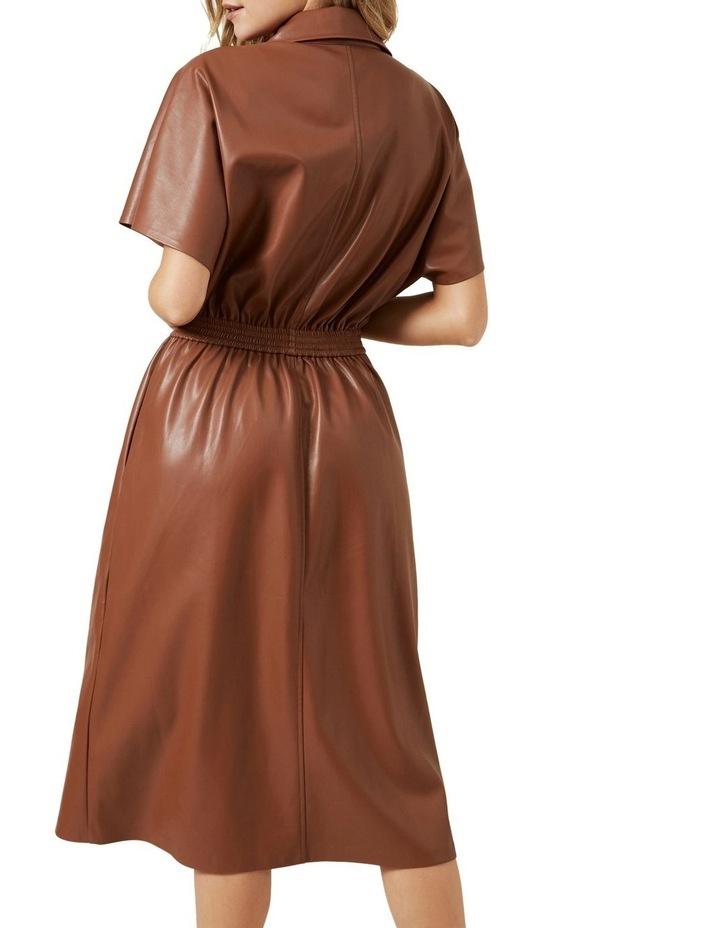Faux Leather Midi Dress image 3