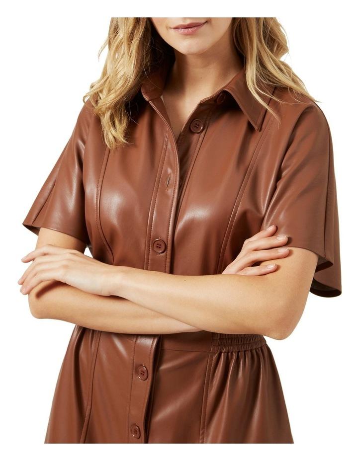 Faux Leather Midi Dress image 4