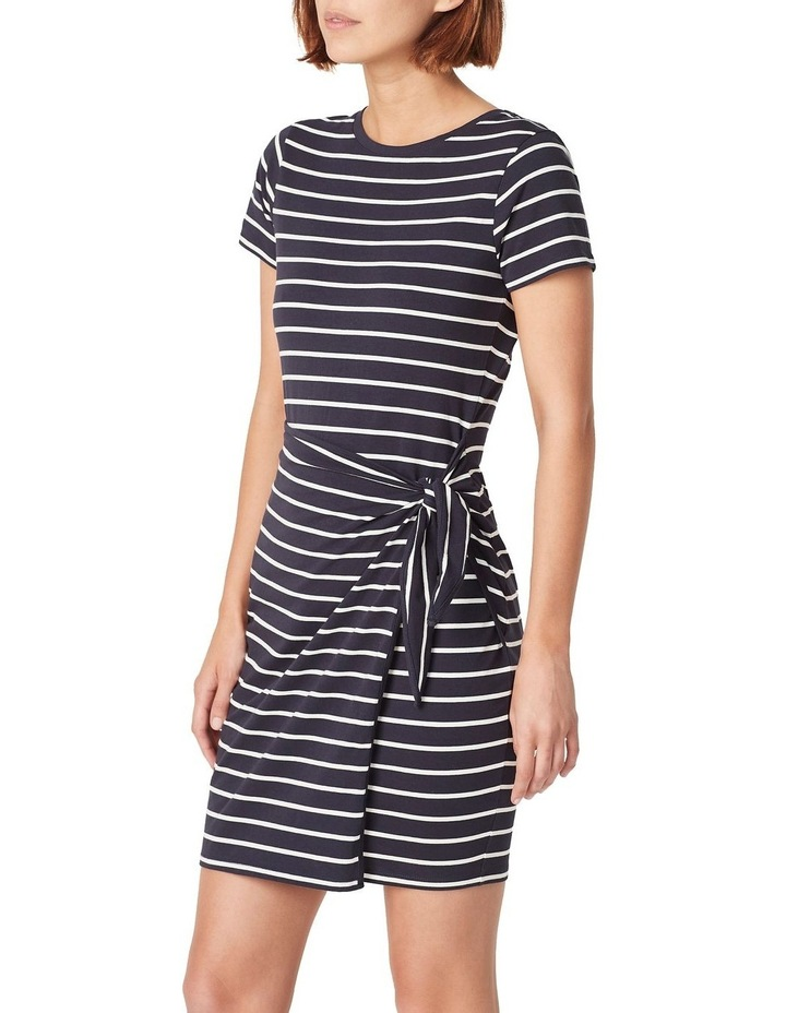 Jersey Stripe Wrap Dress image 1