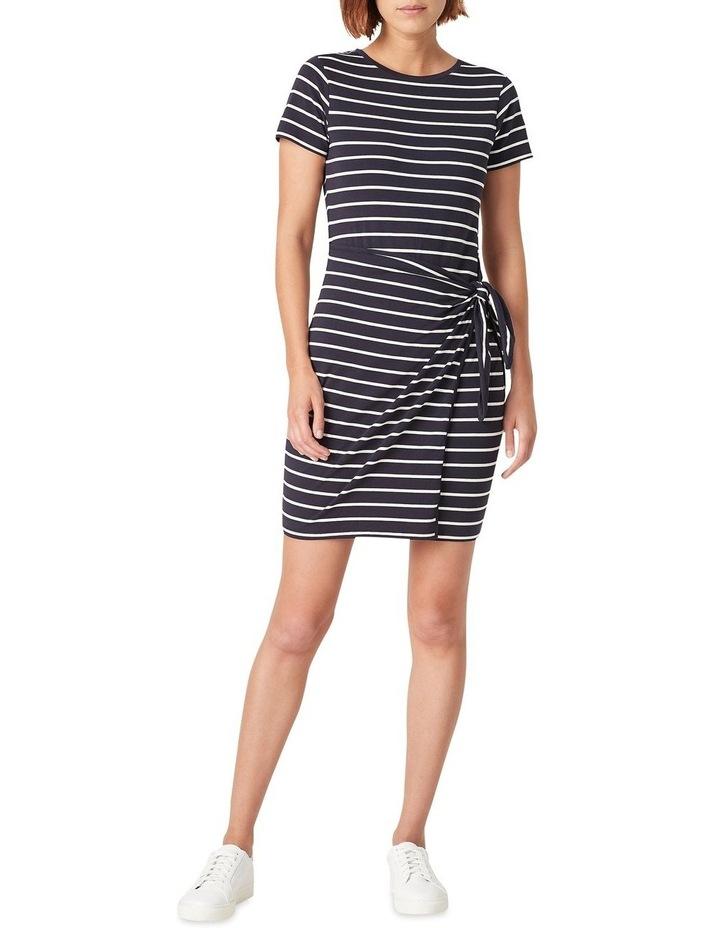 Jersey Stripe Wrap Dress image 2