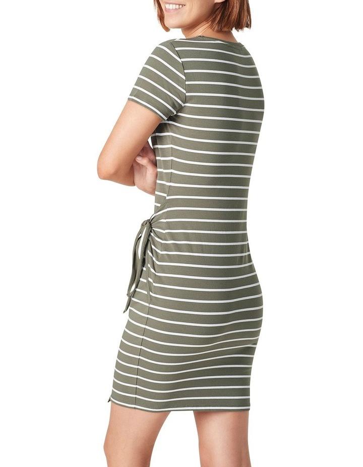 Jersey Stripe Wrap Dress image 3