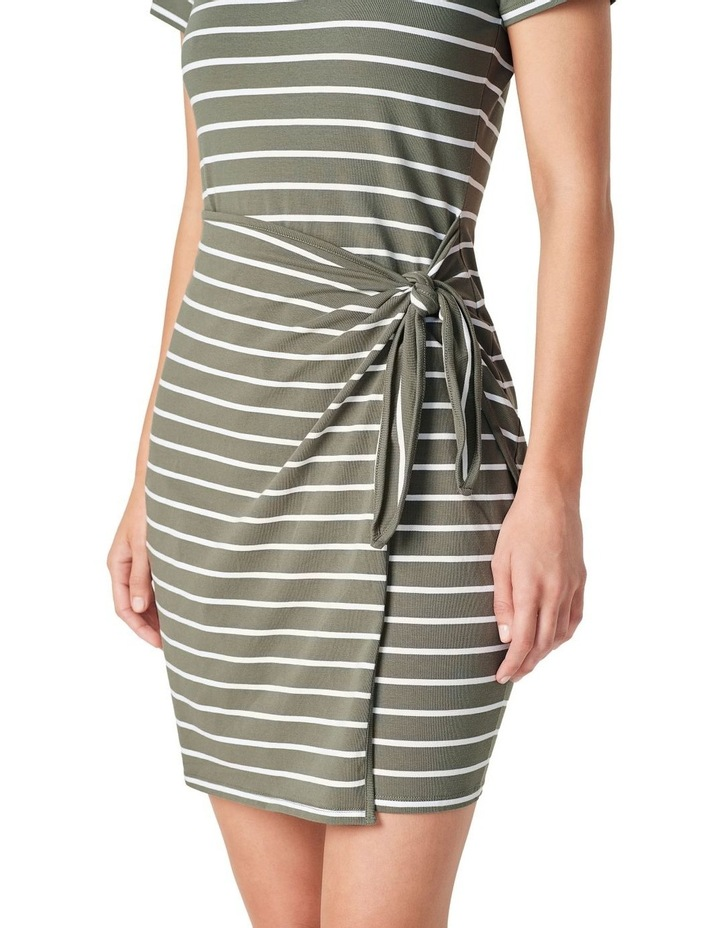 Jersey Stripe Wrap Dress image 4