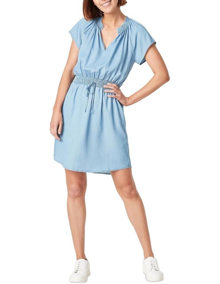Short Sleeve Lyocell Mini Dress image 2