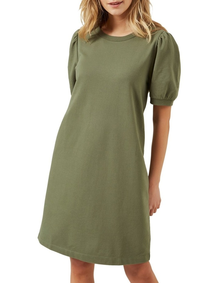 Puff Sleeve Sweat Dress image 1