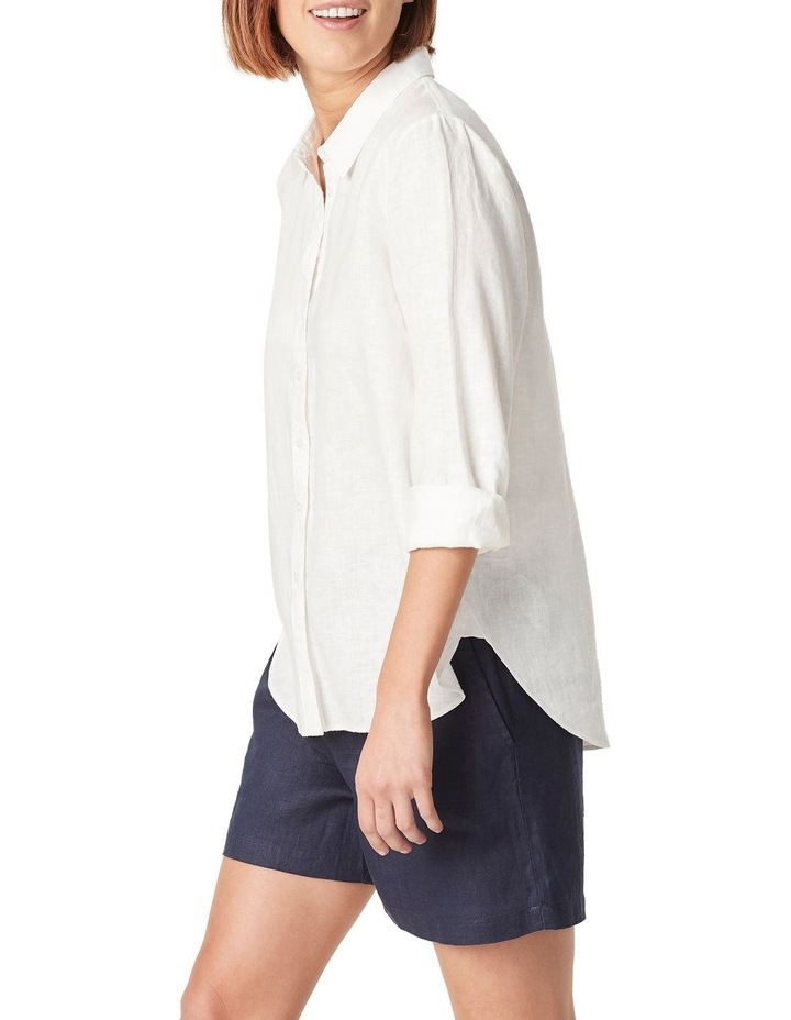 French Linen Boyfriend Shirt image 1