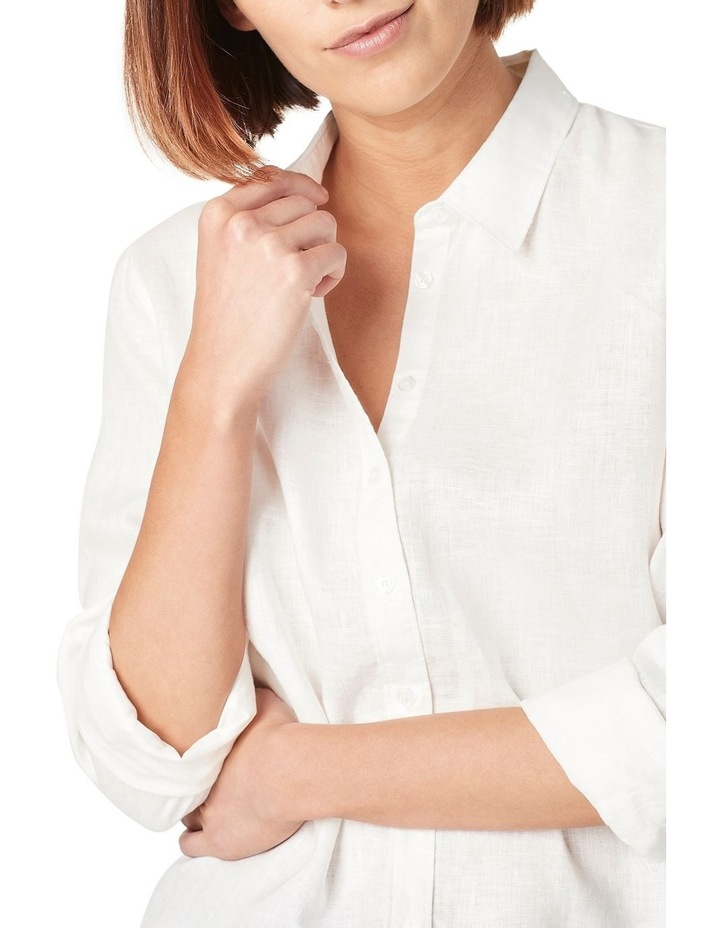 French Linen Boyfriend Shirt image 4