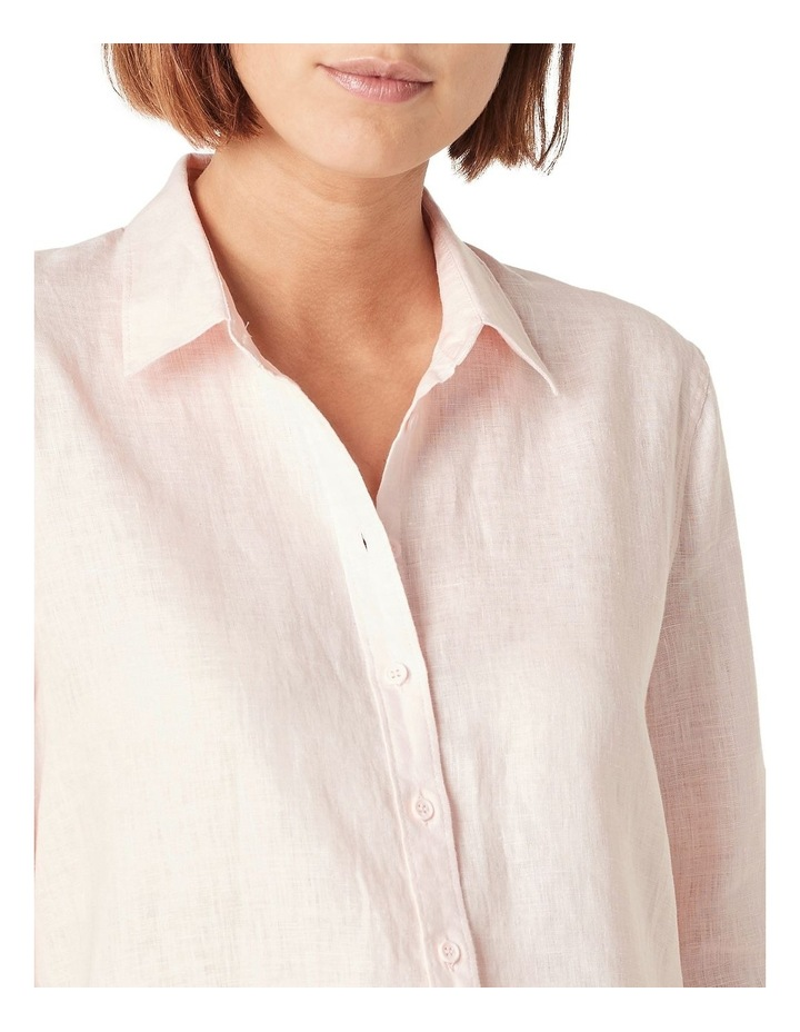 French Linen Boyfriend Shirt image 4