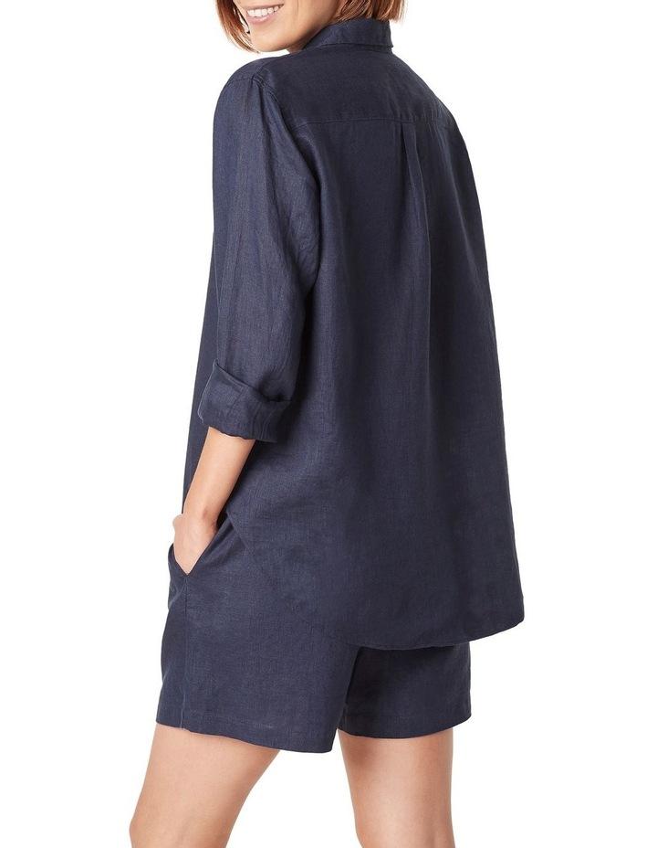 French Linen Boyfriend Shirt image 3