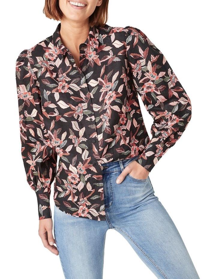 Tropical Puff Sleeve Shirt image 1