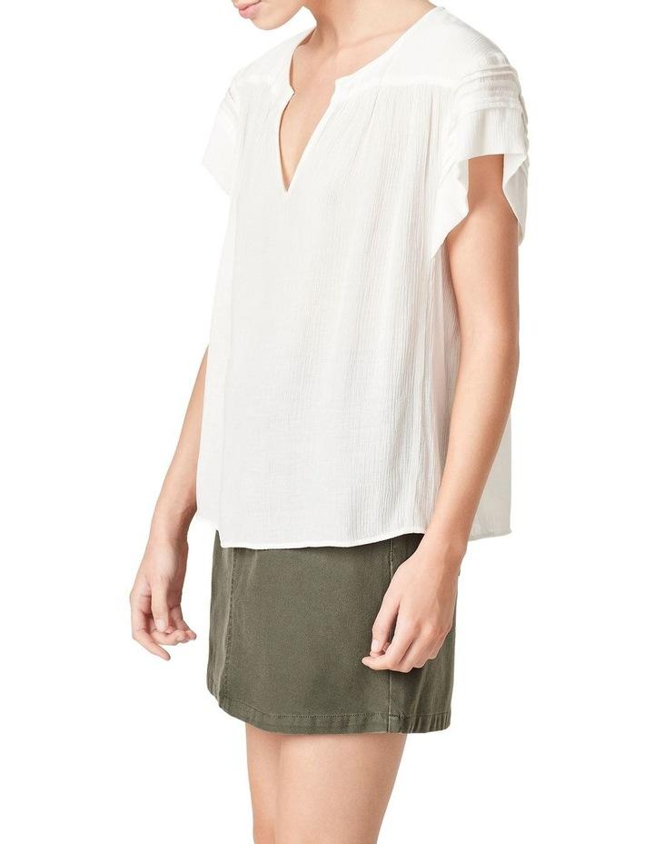 Textured Flutter Sleeve Shirt image 1