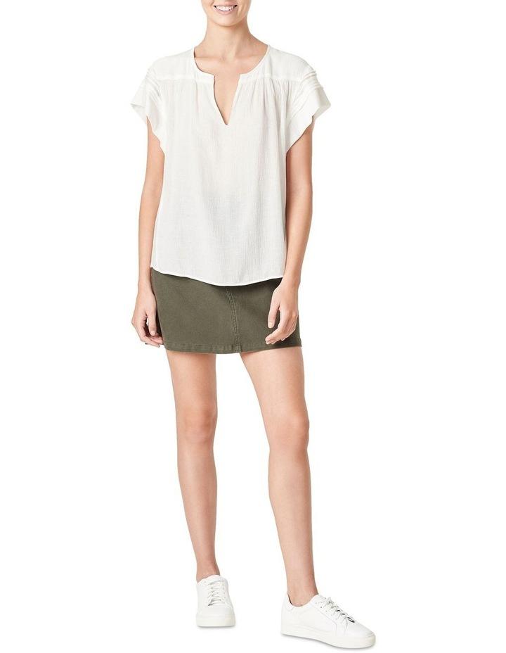 Textured Flutter Sleeve Shirt image 2